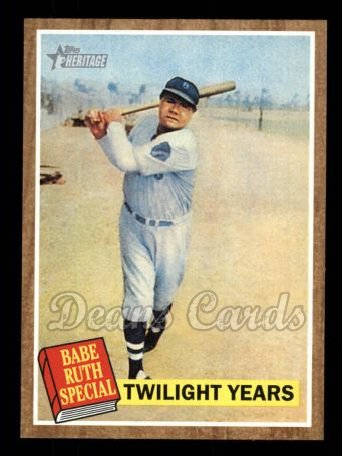 2011 Topps Heritage #141 BR  -  Babe Ruth Twilight Years